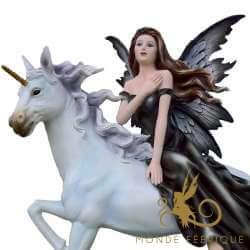 Grande Figurine de Fée Licorne des Oceans