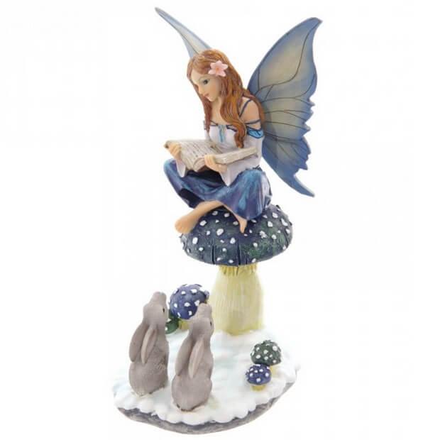 Figurine Fée Conteuse Hiver 25cm