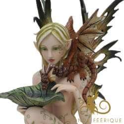"""Grande Statue de Fée """"La Naturelle"""" 34cm"""