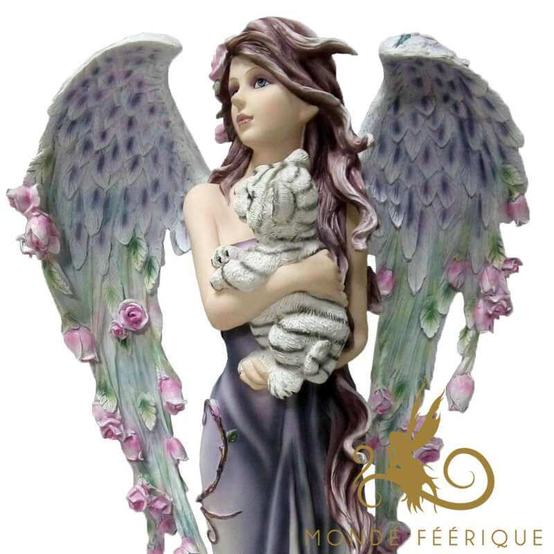 Statue Fée Angel Lionceau -- 54cm
