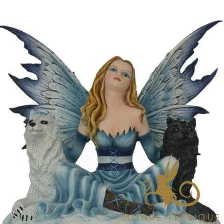 Grande Figurine de Fée 2 Loups Mystère