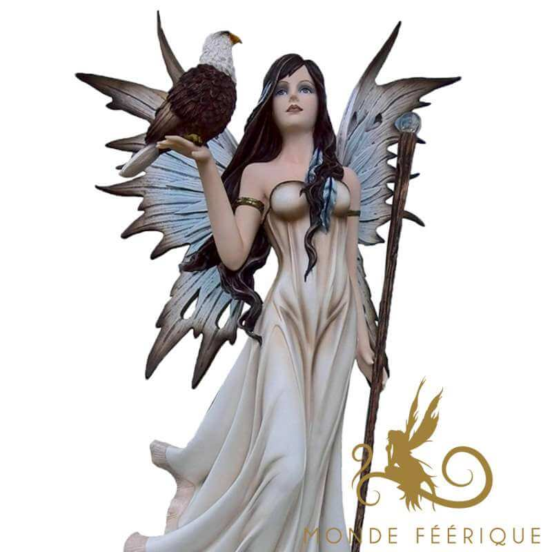 Grande Statue Fée Faucon -- 53cm