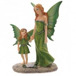 Figurine fée de la Nature avec Enfant - 22cm