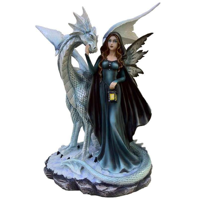 Figurine Géante Fée et Dragon -- 45cm