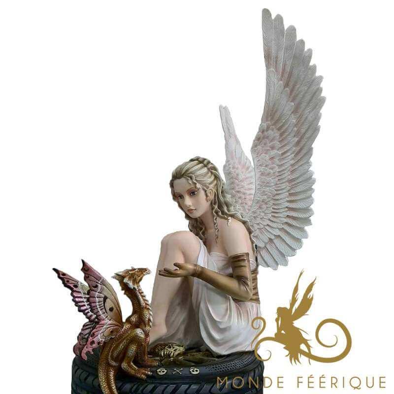 """Statue Fée Géante """"La promesse"""" -- 44cm"""