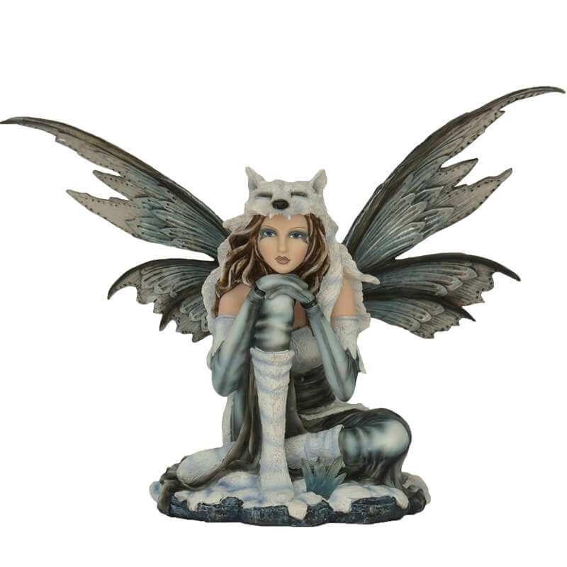 """Figurine Fée """"royaume des loups"""" -- 46cm"""
