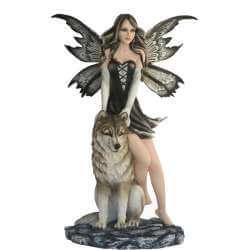"""Figurine Fée Géante """"Monde des Loups"""" -- 50cm"""