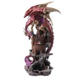 Grande Statue Dragon avec Château