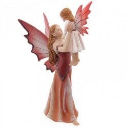 Figurine Fée la Maternité avec Enfant -- 27 cm