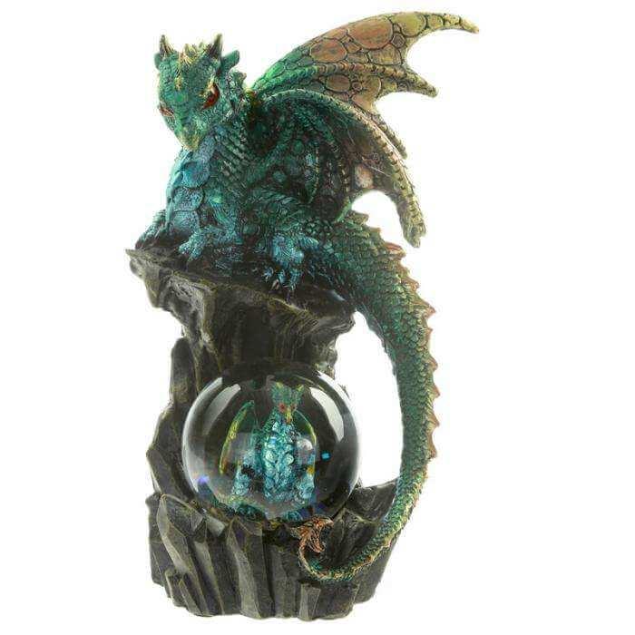 """Figurine Dragon avec Boule """"La Présence"""""""