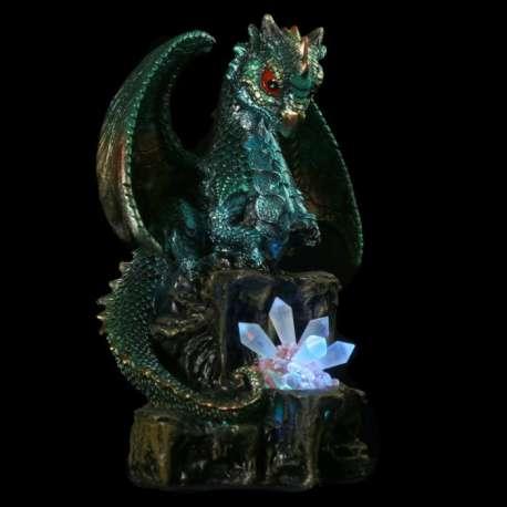 Figurine Dragon Lumineux avec Cristal
