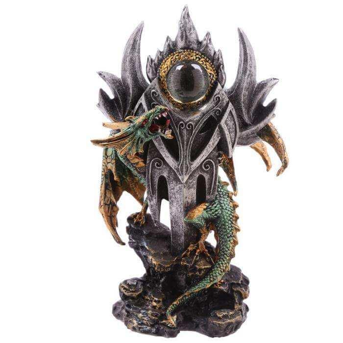 """Figurine Dragon """"Oeil des Légendes"""" 24cm"""