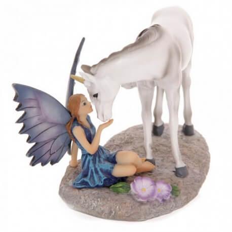 statuette fée licorne - statuette fee
