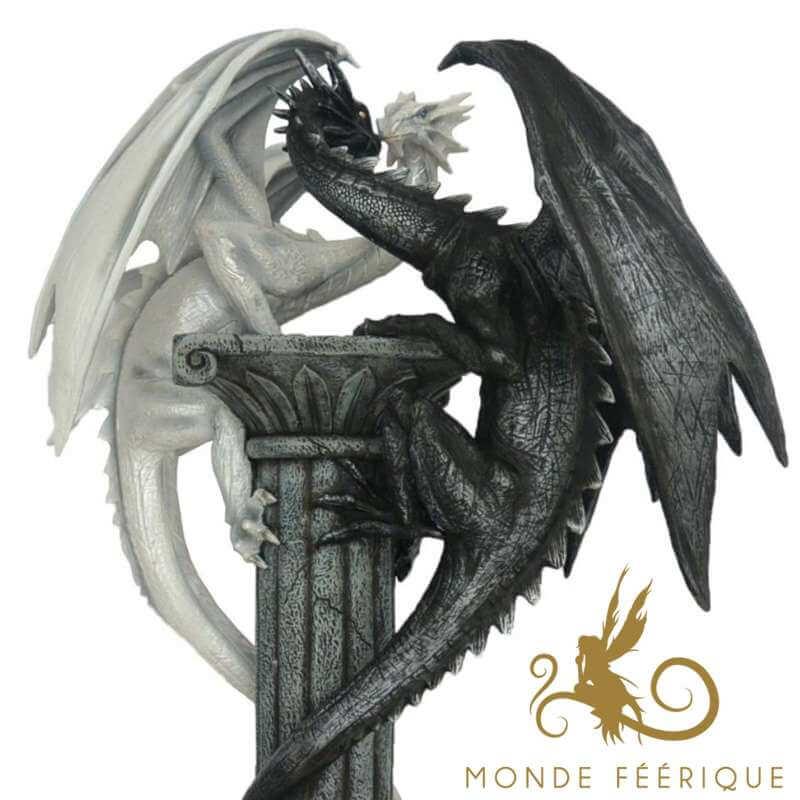 """Statue Dragons Géant """"La Bataille"""""""