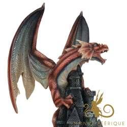 """Grande Statue Géante Dragon """"Majestique"""""""