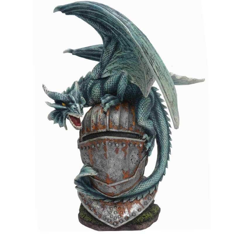 """Statuette Dragon Géant """"Chevalier"""" 32,5cm"""