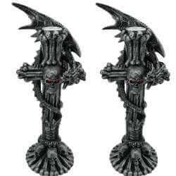 Bougeoir Dragon Gothique x2