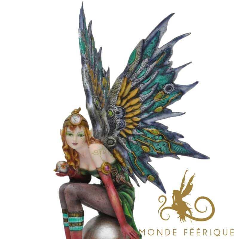 """Statuette Fée Steampunk """"L'Oracle"""" -- 31cm"""