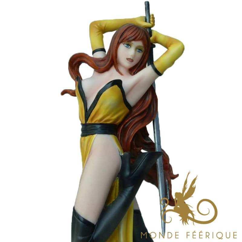 Figurine Fée Jaune Samouraï -- 25cm