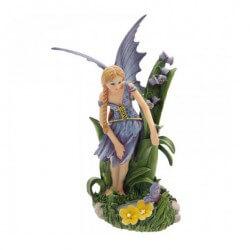 statuette fée avec des fleurs - statuette fee
