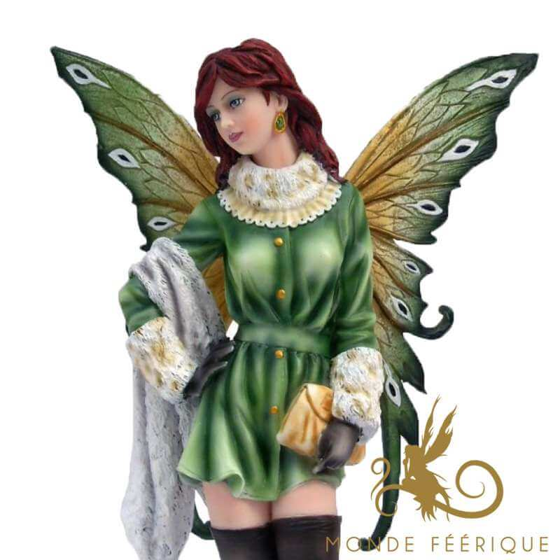 Statuette Elfe Mage Vert -- 31cm