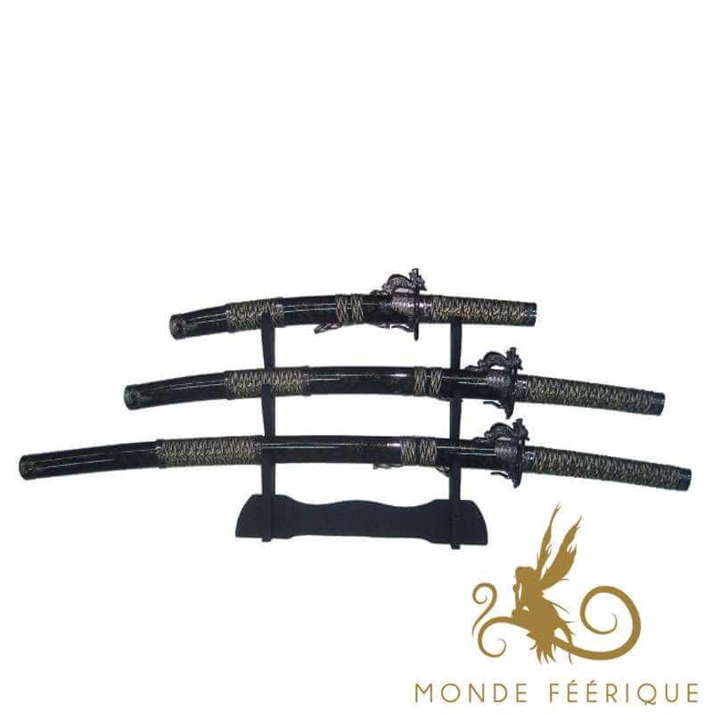 Set de Katanas Noir ebene