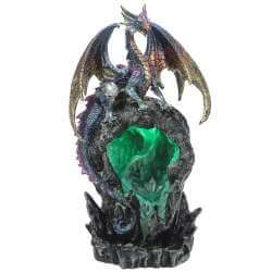 Brule Encens Statue Dragon avec Lumière