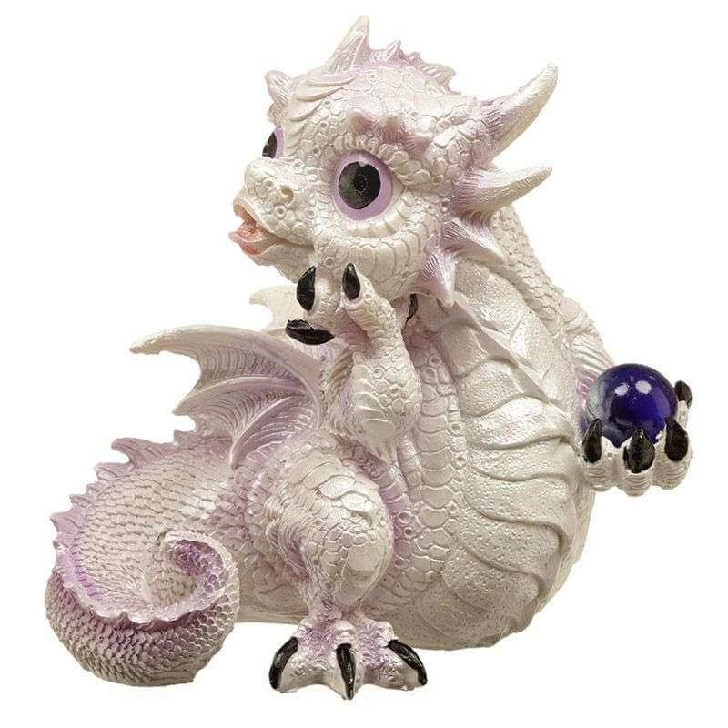 Figurine Dragon Blanc - Guerrier