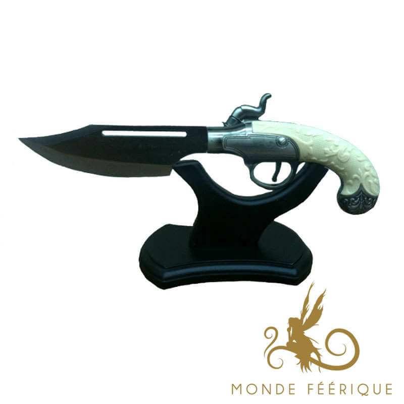 Couteau Pistolet Pirate Blanc